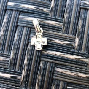 Swarovski crystal cross pendant charm